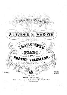 Impromptu 'Souvenir de Maroth', Op.6: Impromptu 'Souvenir de Maroth' by Robert Volkmann