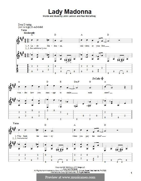 Lady Madonna (The Beatles): Para Guitarra by John Lennon, Paul McCartney