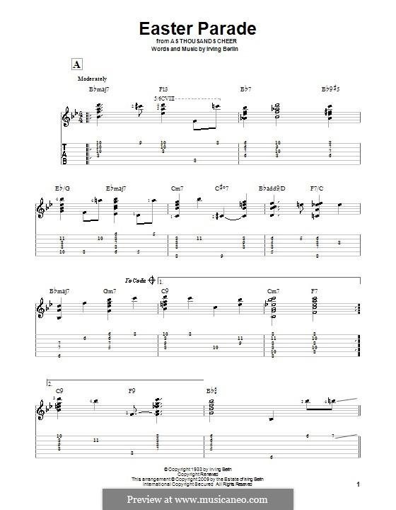 Easter Parade: Para guitarra com guia by Irving Berlin
