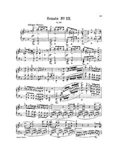 Sonata for Piano No.3 in D Minor, J.206 Op.49: para um único musico (Editado por H. Bulow) by Carl Maria von Weber