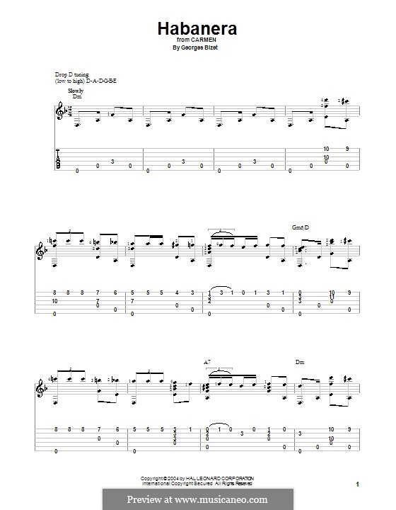 Habanera: Para Guitarra by Georges Bizet