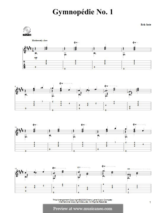 No.1: Para Guitarra by Erik Satie