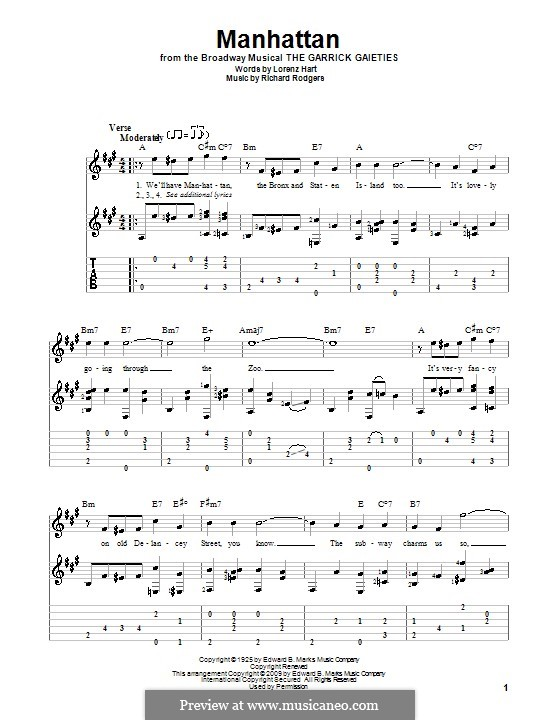 Manhattan: para guitarras com guia by Richard Rodgers