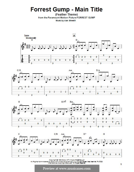 Forrest Gump Suite (Theme): Para Guitarra by Alan Silvestri