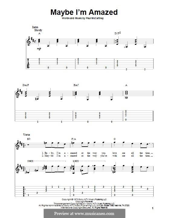 Maybe I'm Amazed: para guitarras com guia by Paul McCartney