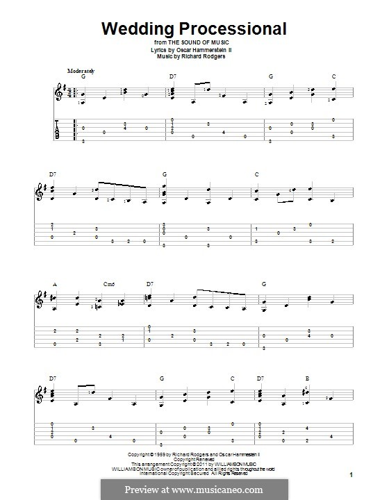 Wedding Processional: para guitarras com guia by Richard Rodgers