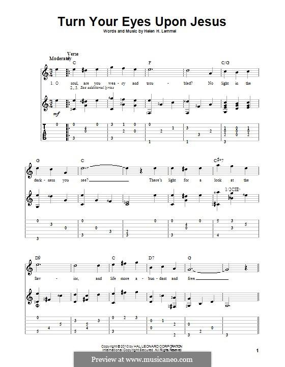 Turn Your Eyes Upon Jesus (The Newsboys): Para guitarra com guia by Helen H. Lemmel