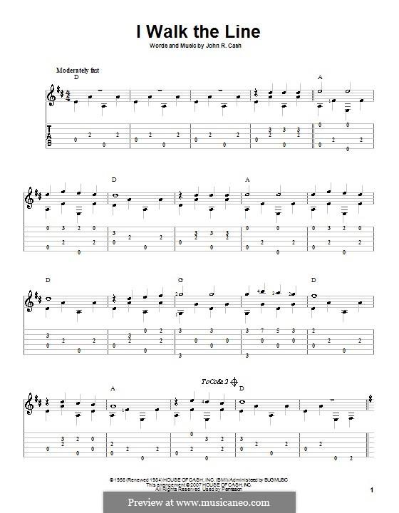 I Walk the Line: Para Guitarra by Johnny Cash