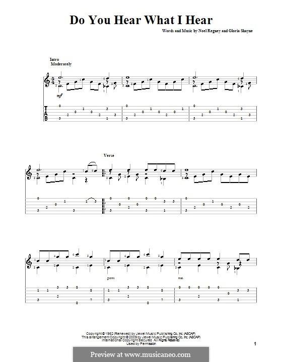 Do You Hear What I Hear: para guitarras com guia by Gloria Shayne, Noël Regney