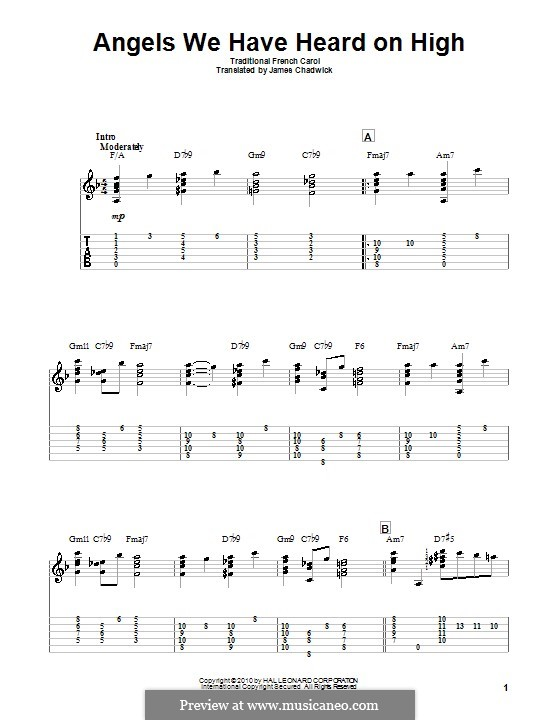 Angels We Have Heard on High: Para Guitarra by folklore