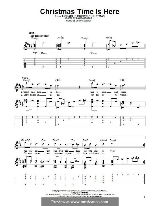 Christmas Time is Here: Para guitarra com guia by Vince Guaraldi