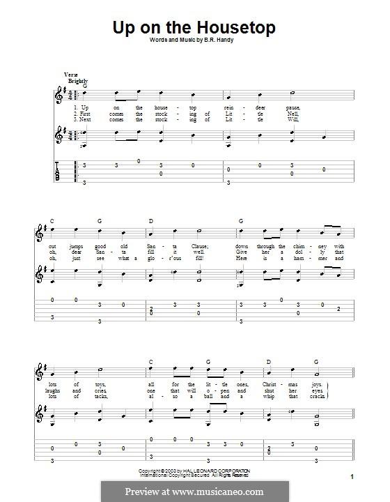 Up on the House Top: Para guitarra com guia by Benjamin Russel Hanby