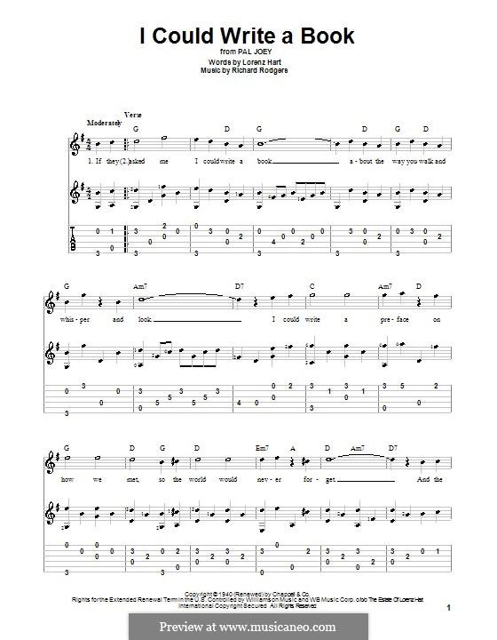 I Could Write a Book: para guitarras com guia by Richard Rodgers
