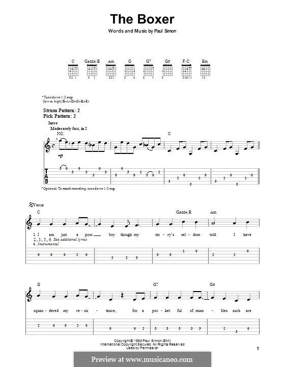 The Boxer: Para guitarra (versão facil) by Paul Simon