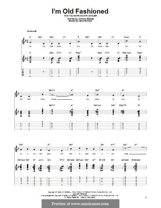 I'm Old Fashioned: para guitarras com guia by Jerome Kern