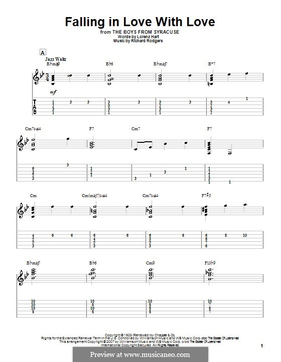 Falling in Love with Love: para guitarras com guia by Richard Rodgers