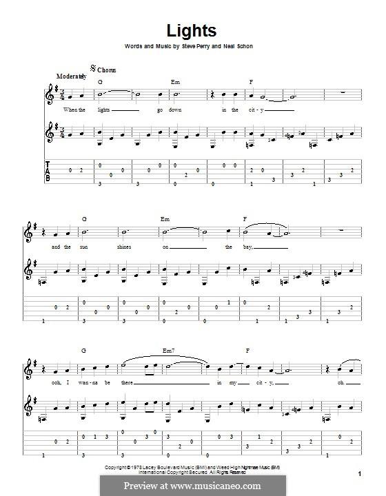 Lights (Journey): Para guitarra com guia by Neal Schon, Steve Perry