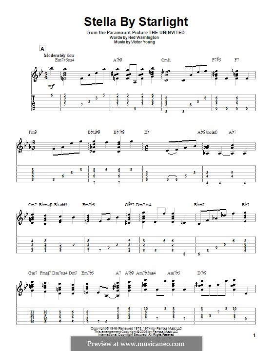Stella By Starlight: Para guitarra com guia by Victor Young