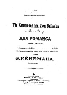 Three Roads, Op.7: Three Roads by Feodor Feodorovich Koenemann