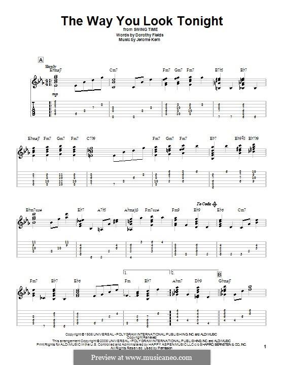 Vocal-instrumental version: Para Guitarra by Jerome Kern