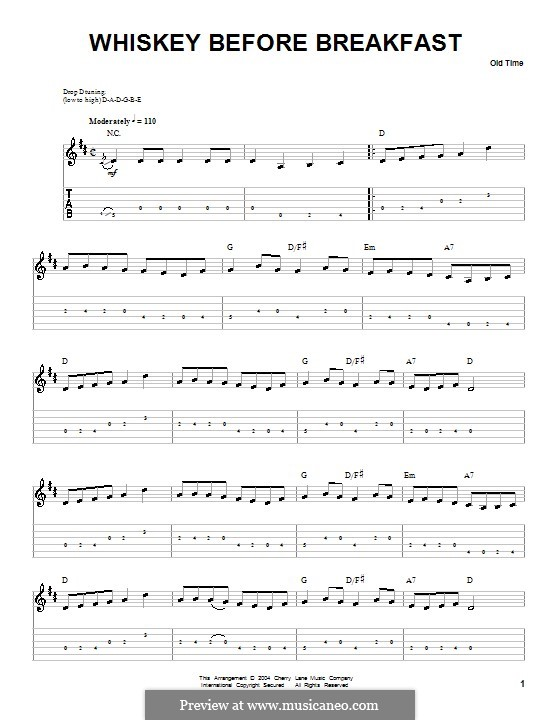 Whiskey Before Breakfast: Para Guitarra by folklore