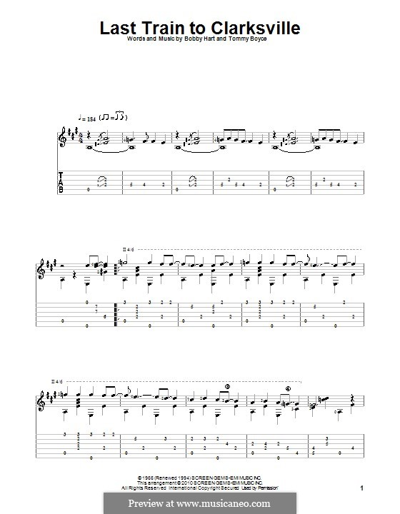 Last Train to Clarksville (The Monkees): Para guitarra com guia by Bobby Hart, Tommy Boyce