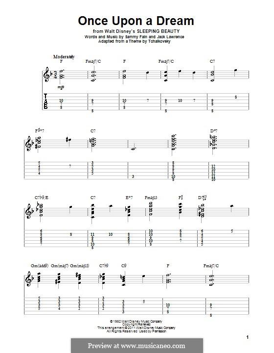Once upon a Dream: Para guitarra com guia by Jack Lawrence, Sammy Fain