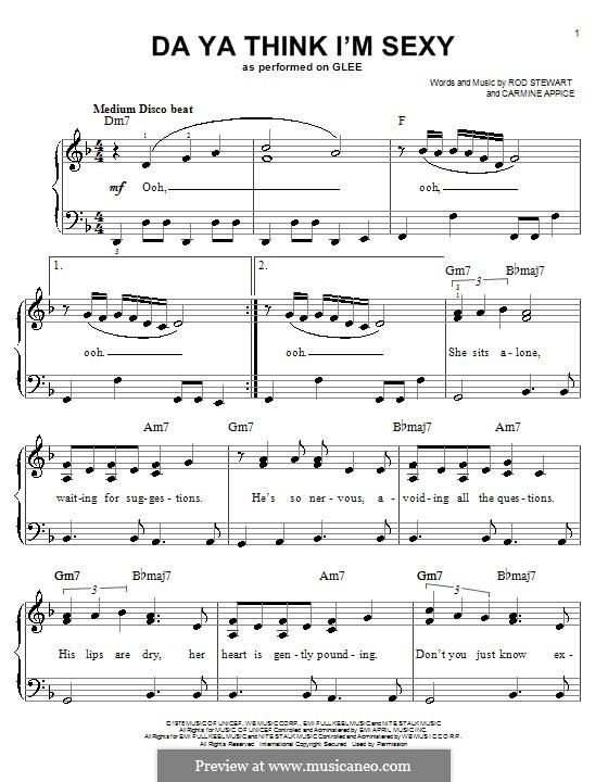Da Ya Think I'm Sexy: Facil para o piano by Carmine Appice