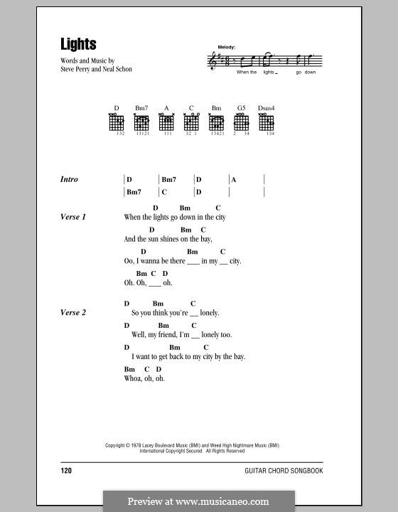 Lights (Journey): Letras e Acordes by Neal Schon, Steve Perry