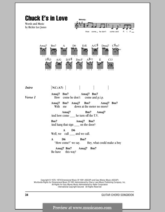Chuck E's in Love: Letras e Acordes by Rickie Lee Jones