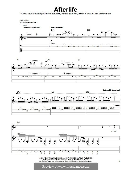 Afterlife (Avenged Sevenfold): Para guitarra com guia by Brian Haner Jr., James Sullivan, Matthew Sanders, Zachary Baker