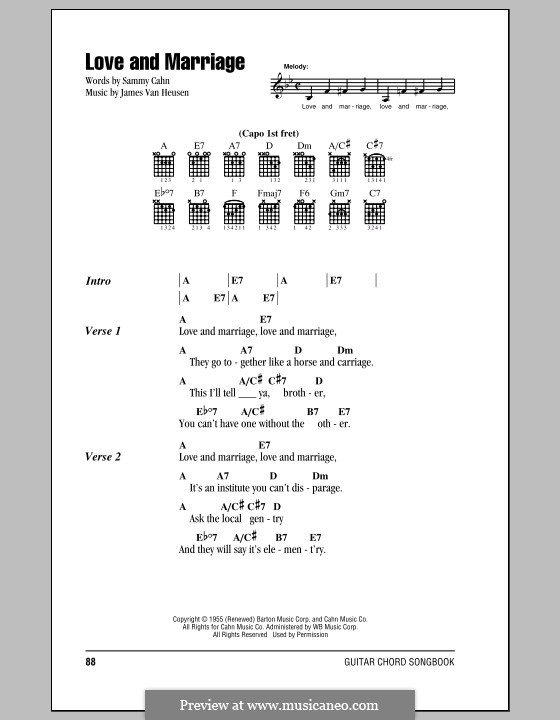 Love and Marriage (Frank Sinatra): Letras e Acordes by Jimmy Van Heusen