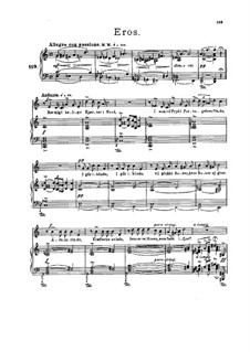 Five Poems, Op.70: Five Poems by Edvard Grieg