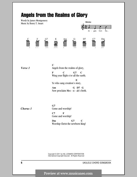Angels, from the Realms of Glory: For ukulele (with strumming patterns) by Henry Smart