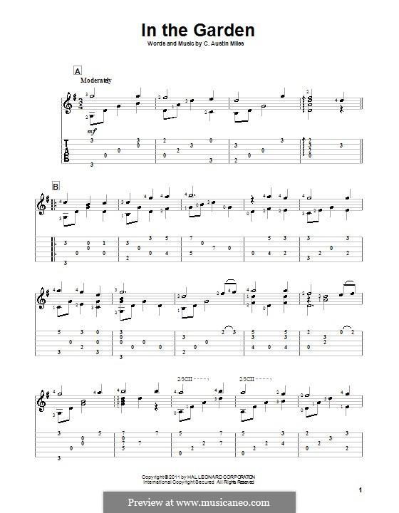 In the Garden: Para guitarra com guia by C. Austin Miles
