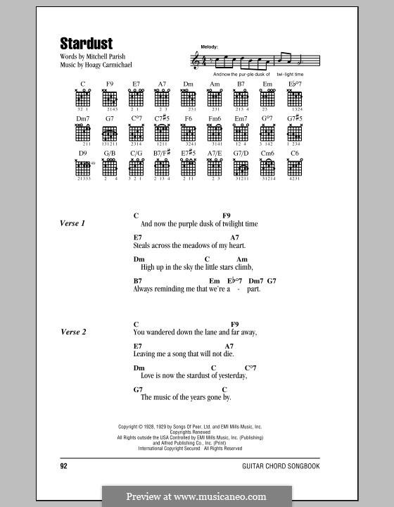 Stardust (Frank Sinatra): Letras e Acordes by Hoagy Carmichael