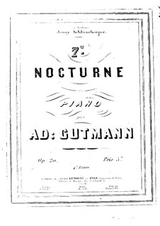 Nocturne No.7 in E Flat Major, Op.20: Nocturne No.7 in E Flat Major by Adolf Gutmann
