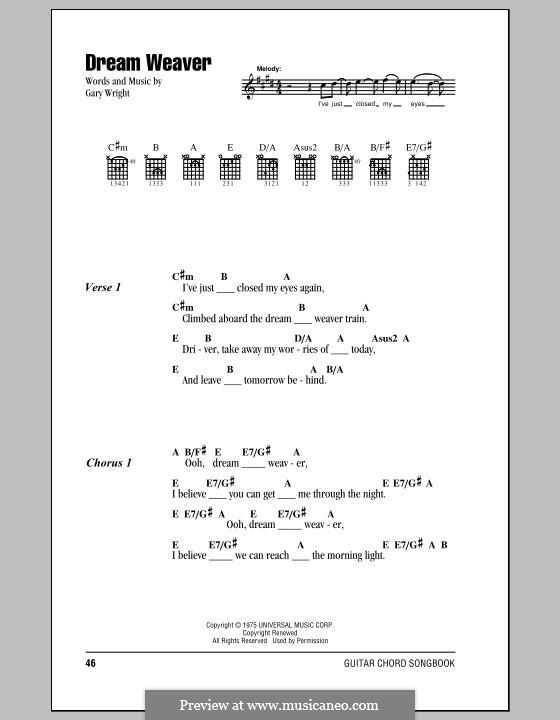 Dream Weaver: Letras e Acordes by Gary Wright