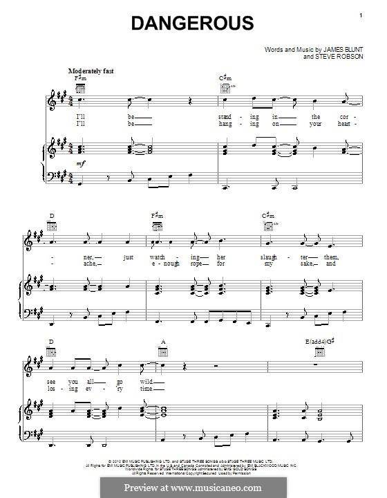 Dangerous: Para vocais e piano (ou Guitarra) by Steve Robson