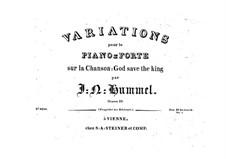 Variations on 'God Save the King', Op.10: Variations on 'God Save the King' by Johann Nepomuk Hummel