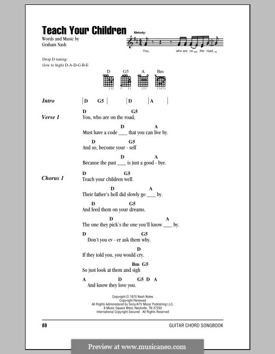 Teach Your Children (Crosby, Stills & Nash): Letras e Acordes by Graham Nash