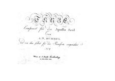 Dances for Apollo Saal: Book No.1, Op.27 by Johann Nepomuk Hummel