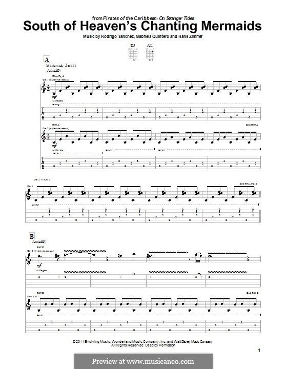 South of Heaven's Chanting Mermaids: Para guitarra com guia by Gabriela Quintero, Rodrigo Sánchez