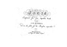 Dances for Apollo Saal: Book No.5, Op.45 by Johann Nepomuk Hummel