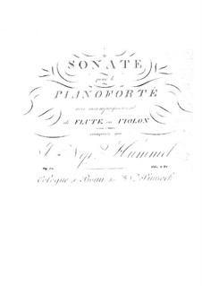Sonata for Piano and Flute (or Violin), Op.50: partitura, parte solo by Johann Nepomuk Hummel