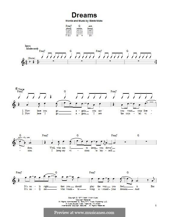Dreams (Fleetwood Mac): Para Guitarra by Stevie Nicks