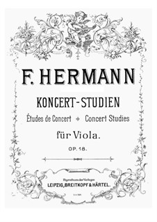Concert Studies for Viola, Op.18: Concert Studies for Viola by Friedrich Hermann
