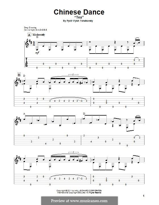 No.6 Chinese Dance: Para Guitarra by Pyotr Tchaikovsky