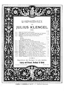 Mazurka for Cello and Piano No.3, Op.14: Mazurka for Cello and Piano No.3 by Julius Klengel