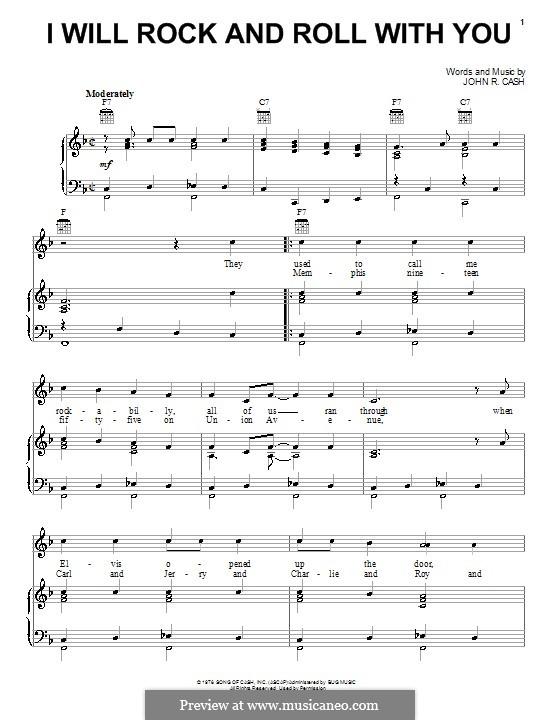 I Will Rock and Roll with You: Para vocais e piano (ou Guitarra) by Johnny Cash